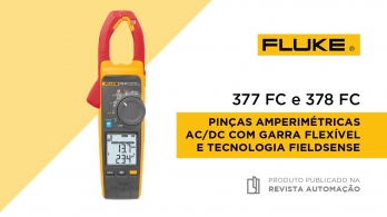 Pinças amperimétricas Fluke 377 FC e 378 FC