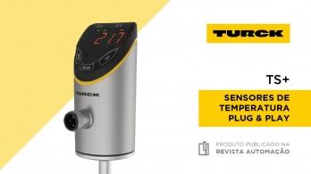 Sensores de temperatura plug&play TS+ da TURCK