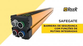 SAFEGATE - Barreira de segurança com funções de muting integradas
