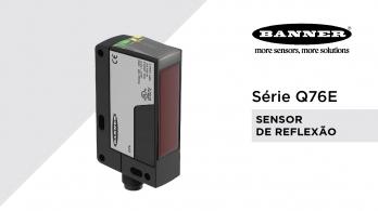 Sensor de reflexão Q76E da Banner Engineering