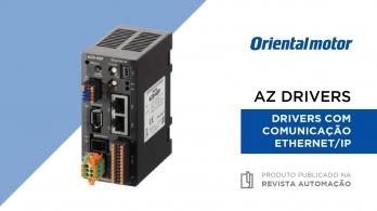 Drivers AZ com comunicação EtherNet/IP da Oriental Motor