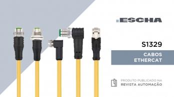 Novos cabos EtherCAT S1329 da ESCHA