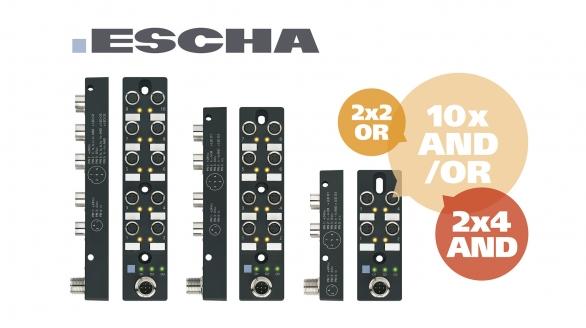 Escha já tem disponíveis novos repartidores com funções lógicas integradas