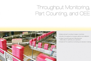 Throughput Monitoring, Part Counting and OEE