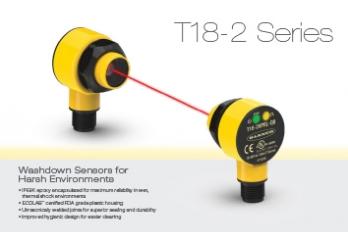 Washdown Sensors T18-2 Series