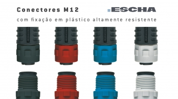 New M12 connectors with plastic locking nut from ESCHA