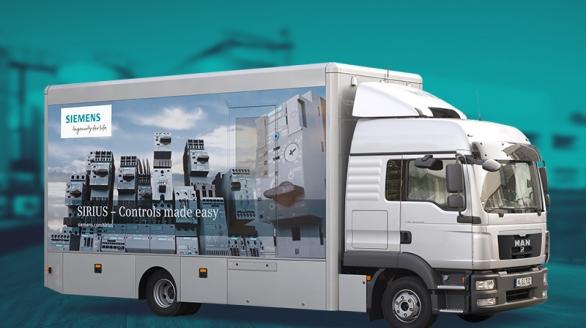 Camião Expositor Siemens - Industrial Controls Tour