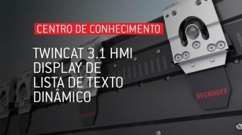 TwinCAT 3.1 HMI - Display de lista de texto dinâmico