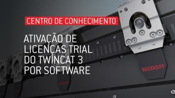 Ativação de licenças trial do TwinCAT 3 por software